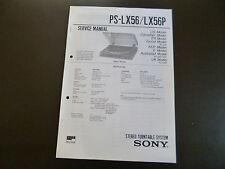 Service Manual  Sony PS-LX56 / LX 56P
