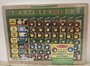 Melissa & Doug Magnetic Responsibility Chart  w_ 90 Magnets New Sealed Package