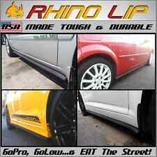 Durable Rubber Side Skirt Rocker Panel Chin Lip Spoiler Under Panel Splitter *