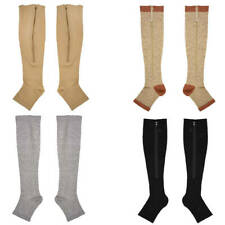 Compression Zip Up Socks Open-Toe Zipper Leg Support Unisex Socks Knee Stocking
