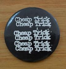 CHEAP TRICK 70's TOUR Pin Button, Pinback Vintage Big 3 in. Round Black & White