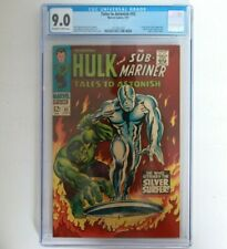 CGC 9.0 Tales to Astonish # 93 7/67 Hulk Silver Surfer White pages