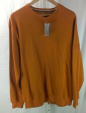 "HUGO BOSS ""Albatros"" Golf Pullover Orange Solid Sweatshirt sz XL NEW NWT"