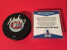 Max Pacioretty Montreal Canadiens  Signed Puck Auto Beckett BAS COA