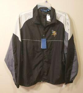 NFL Minnesota Vikings Team Reebok Windbreaker Jacket Full Zip Size X LARGE Men