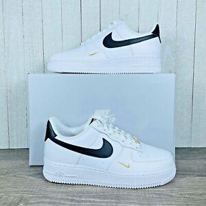 Nike Air Force 1 Low '07 White Black Gold Metallic CZ0270-102 Women's Size 6-12