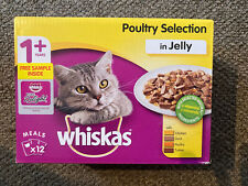 Whiskas Pouch Poultry Selection in Jelly 12 Pack Plus Sample Of Pure Delight