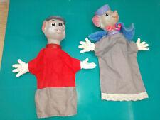 Superbe Lot Disney marionnettes Bernard & Bianca ancienne vintage