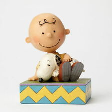 "Enesco Jim Shore Figur 4049397 ""CHARLIE BROWN WITH SNOOPY"" THE PEANUTS Skulptur"