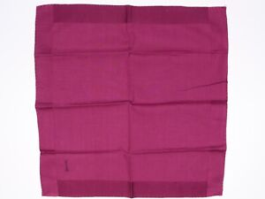 """Hand Rolled Mens Cotton Pocket Square Solid Plum Purple """"I"""" Embroidered Initial"""
