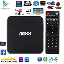 ANDROID BOX INTERNET SMART TV M8S 4K FULL HD WIFI STREAMING QUAD CORE KODI (XBMC