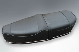 Vespa Rally Sprint /VBB/VLB Pegasus style seat - black with Stainless Trims