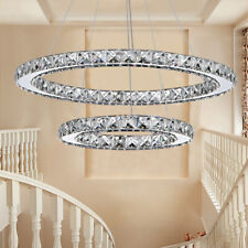 Home Chandeliers Crystal Hanging Fixtures Elegant Ceiling Decor Led Bulb Lights
