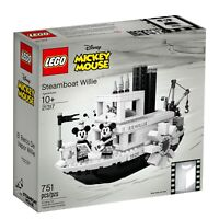 LEGO IDEAS 21317 DISNEY STEAMBOAT WILLIE MICKEY MOUSE FACTORY SEALED BEST PRICE!