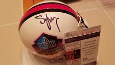 STEVE YOUNG signed HALL OF FAME mini helmet 49ers JSA COA