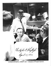 Christopher Kraft Jr Autograph APOLLO 13 Mission Control Marooned Space NASA #1