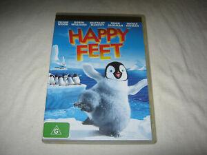 Happy Feet - Elijah Wood - VGC - DVD - R4