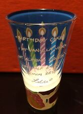 LOLITA 2 OZ. HAND-PAINTED SHOT GLASS ~ BIRTHDAY CAKE ~ RECIPE ON THE FRONT