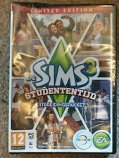 PC DVD The Sims 3 University Life Limited Edition New Dutch Ver Eng Game Damaged