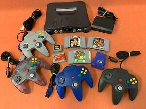 Nintendo 64 N64 System Console Controller Game Lot W/ Super Mario & Goldeneye!!