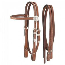 King Series Miniature Browband Headstall w/Silver - Light Chestnut -