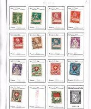 Suiza. 10 hojas con 117 sellos de Suiza diferentes