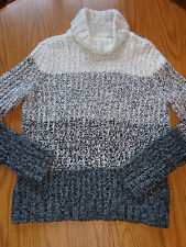 Women's Knit Wool Acrylic Winter Turtleneck Sweater Size M (Apostrophe)