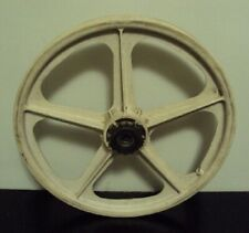 "OLD SCHOOL BMX SKYWAY TUFF WHEEL II 2 REAR 20"" MAG WHEEL WHITE VINTAGE"