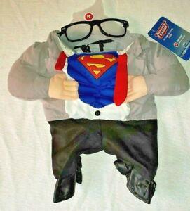 Justice League Superman Clark Kent Dog Costume NEW Size M