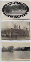 4 1910-1920 era CANBY Minnesota MN  Postcards 1 Real Photo RPPC & 1 Linen