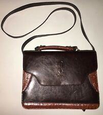 BELLE ROSE BROWN, LEATHER, SECTIONAL, HANDLE PURSE!