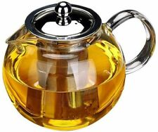 Glass Teapot w/Removable Infuser, Stovetop Safe Kettle, Blooming&Loose Leaf 33oz
