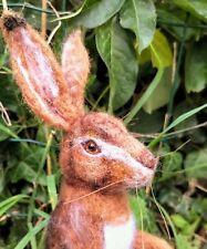Hare, European Hare, Lievre - Needle Felted Animal Sculpture, OOAK,