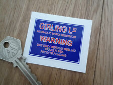 GIRLING Master Cylinder Stickers MGB Healey Triumph