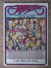 JAMBOREE IN THE HILLS PROMOTIONAL POSTER JULY 15-18 1993 ST. CLAIRSVILLE OHIO