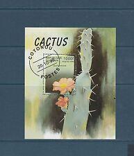 Benin bloc  flore  fleurs cactus     num:  bf 59  oblitéré