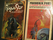 2 Frederik Pohl Books - Classic SF includes - Rogue Star & Plague of Pythons