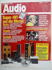 AUDIO 9/84.DBX SOUNDFIELD ONE,TECHNICS RS B 100,AXIOM EL 135,KS ACTIV 4,BRAUN 13