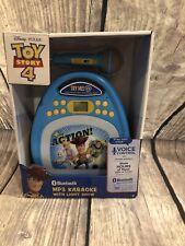 New listing Toy Story 4 Bluetooth Mp3 Karaoke Machine w/ Led Light Show 16 Hours 100s Songs