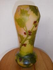 Vase Legras dégagé à l'acide signé en camée
