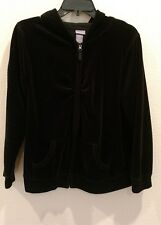 Laura Ashley Size Petite Large Velour Zip Lounge Hoodie with pockets