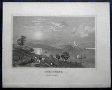 MAINAU bei Konstanz; Bodensee. Originaler Stahlstich 1840