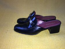 Ralph Lauren Size 8.5 B Mules Low Heel  Open Back Black Mules are in Fashion!