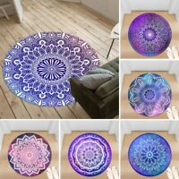 Galaxy Mandala Non-slip Round Soft Area Rug Floor Carpet Door Mat Home Decor