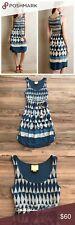 Anthropologie Maeve Geo Diamond Castalia Tie Dye Printed Shibori Boho Dress XS 2