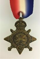 Gt Britain SUPERIOR QUALITY Solid Bronze British 1914 MONS STAR Medal. Full size