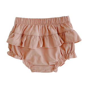 Infant Baby Girls Shorts Solid Color Elastic Waistband All-match Lantern Pants