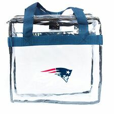 New England Patriots Clear Zipper Closure Tote Bag Stadium Approved NFL Licensed