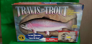 1999 TRAVIS THE SINGING TROUT Gemmy Rock the Boat Do Wah Diddy- New