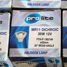 PRO LITE MR11 DICHROIC 35W 12 V 30 DEGREE BEAM LAMPS UNUSED SURPLUS